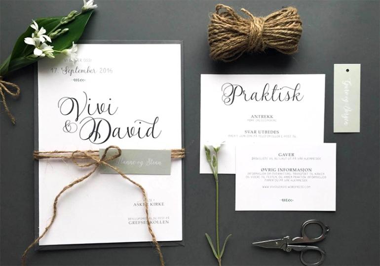 vivi david invitasjoner og bryllupsinvitasjoner